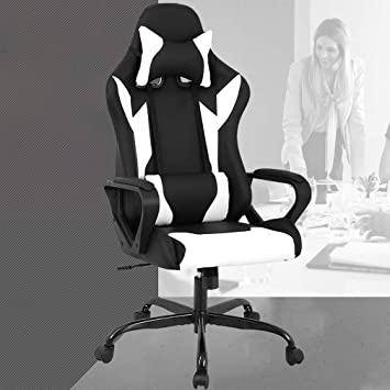 Amazoncom Racing Office Chair High Back Pu Leather Gaming Chair