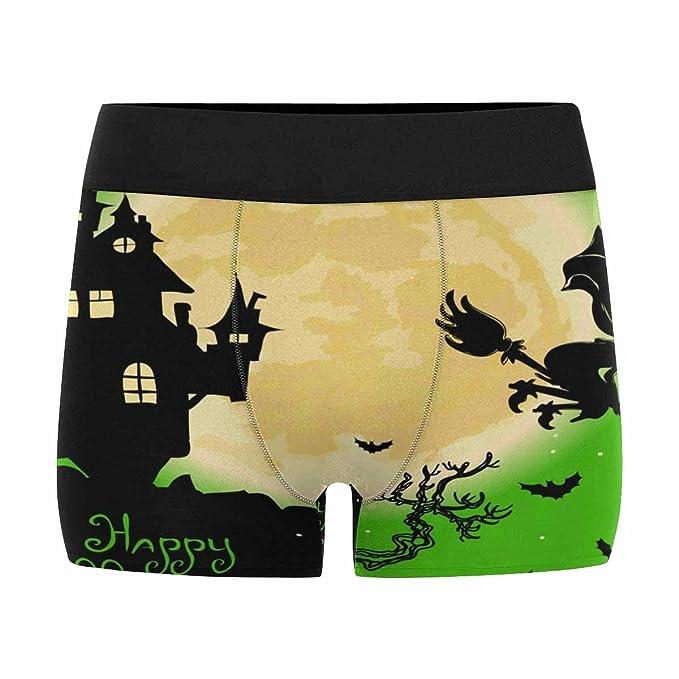 INTERESTPRINT Custom Mens All-Over Print Boxer Briefs Happy Halloween XS-3XL