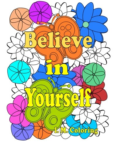 Believe Yourself Coloring featuring Affirmations product image