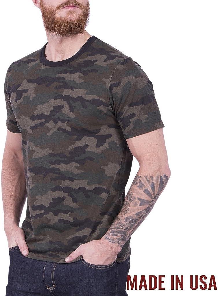 Grunt Style Outdoors Camo Flag Mens T-Shirt