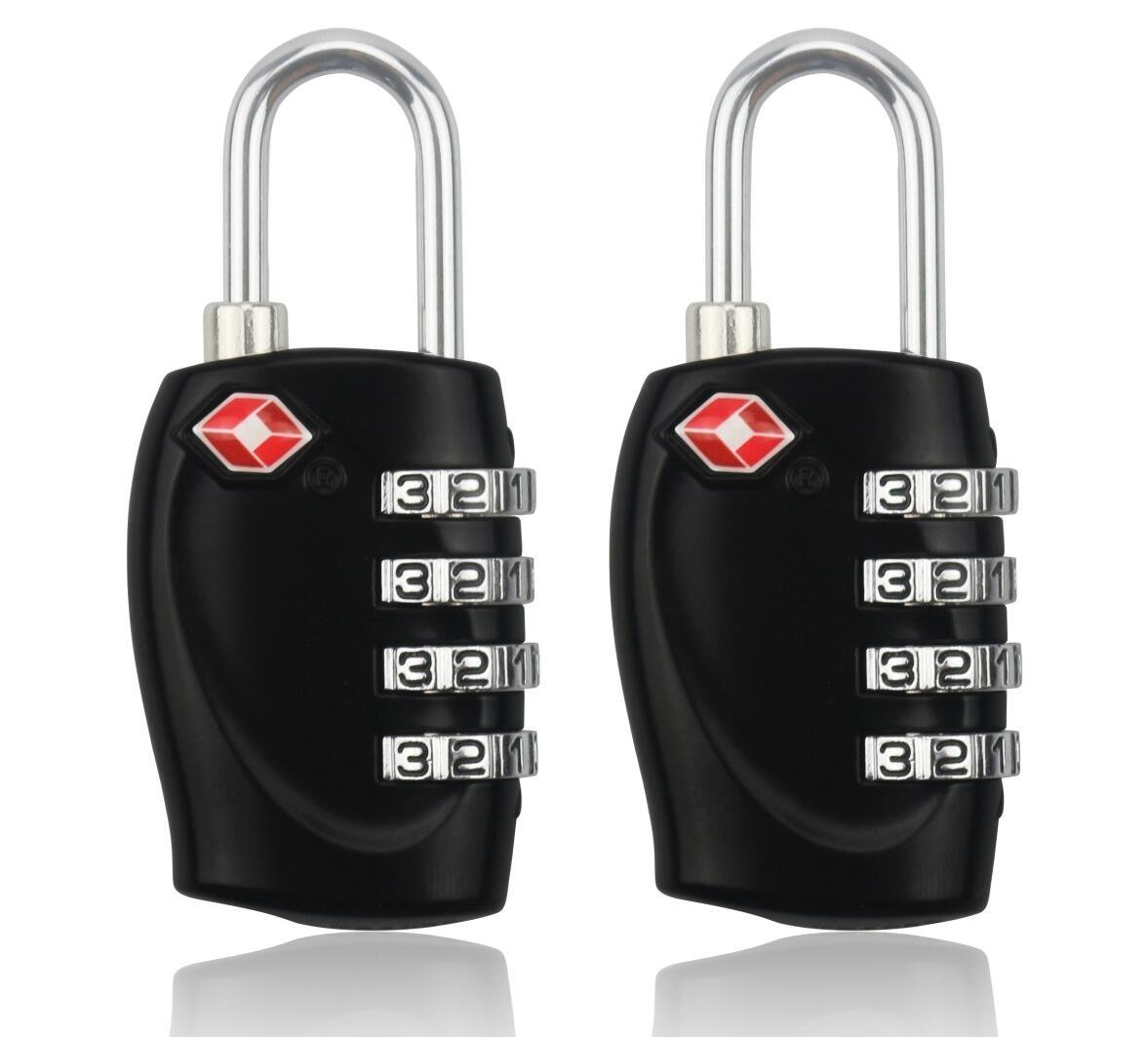 BlueBeach® 2 PCS TSA Travel Lock for Suitcase Luggage Security 4 Digit Combination Number Padlock travel-lock-1
