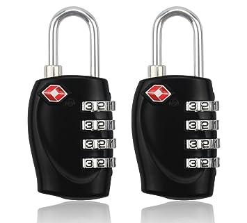 BlueBeach® 2 PCS Candado de viaje para Maletín Seguridad para el equipaje 4 dígitos Combinación Número Candado: Amazon.es: Equipaje