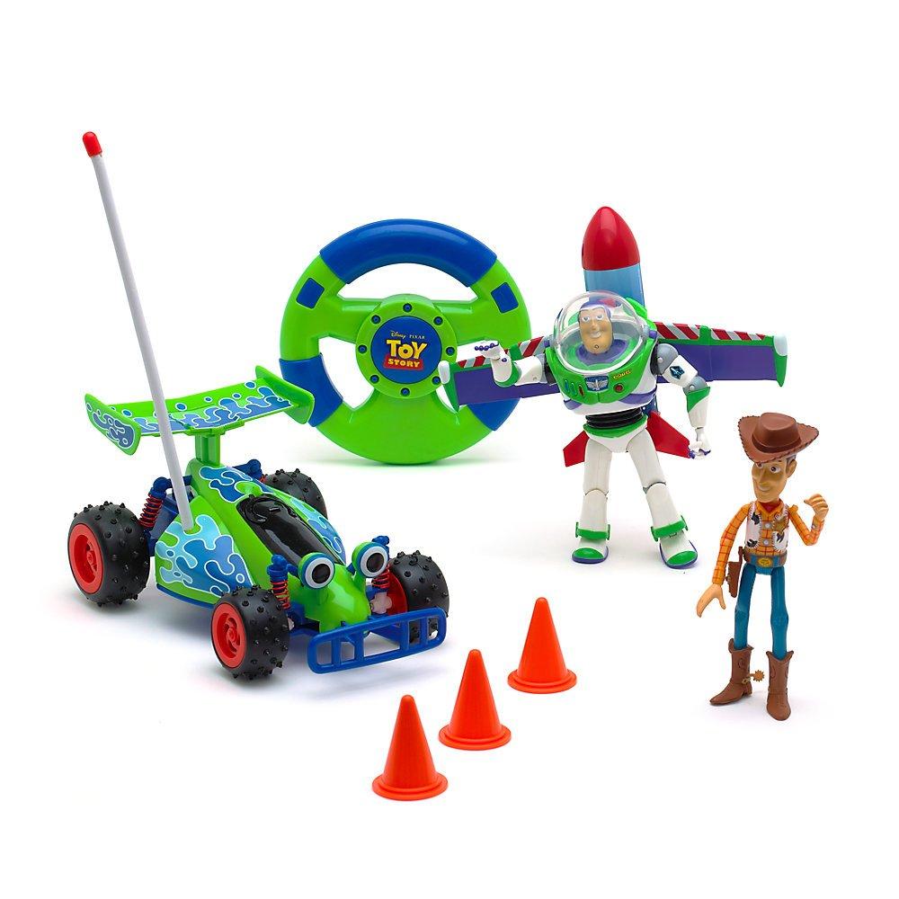 Disney Store - Voiture télécommandée Toy Story avec figurines Buzz et Woody 411204349282 Caricatures & Bandes dessinées