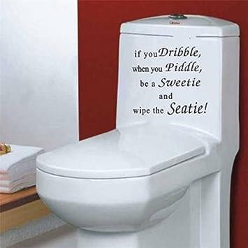 Hebbier Schwarz Englisch Buchstaben If You Toilette Sticker Amazon