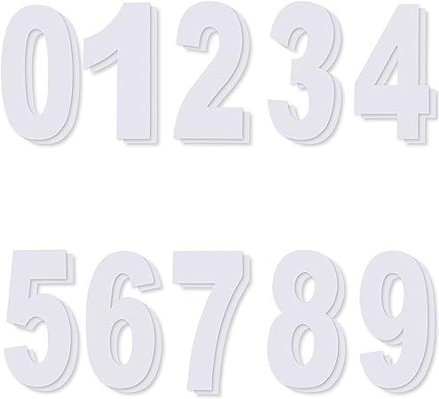 Vinyl Self Adhesive Waterproof Numbers for Wheelie Bin Door Garage Car Race 20x