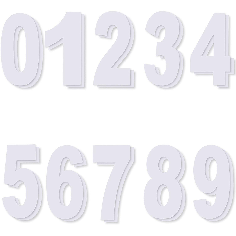 Wheelie Bin Numeri Adesivi, Autoadesiva Numeri da 0 a 9, Ogni Numero 2 Pezzi Shappy
