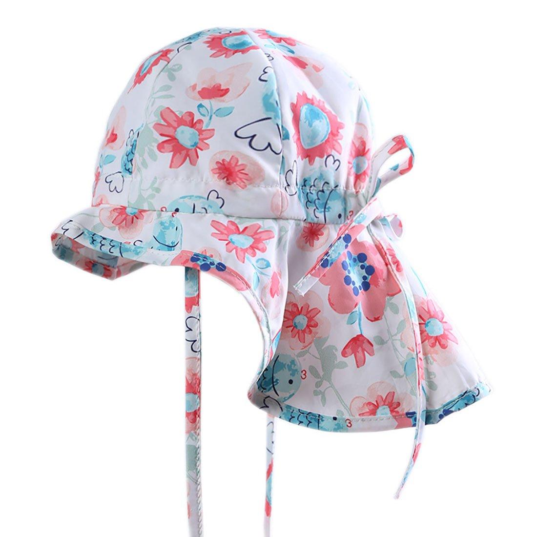 Boomly Casual Carino Estate Protezione da Sole Berretto di Cotone Anti-UV Cappello da Sole Viaggio Spiaggia Cappello per bambini