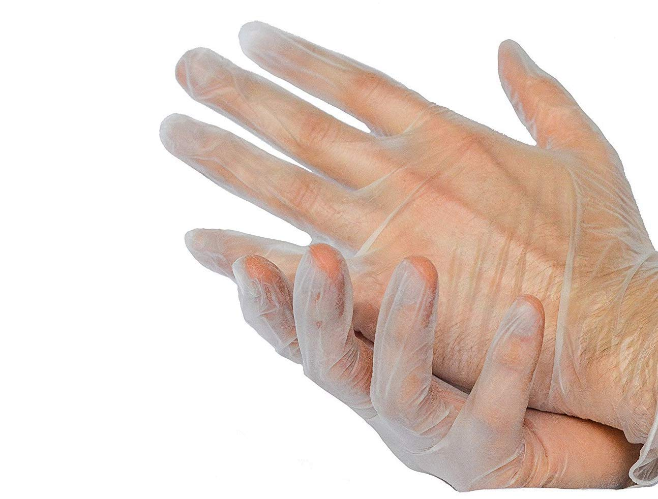 Disposable Vinyl Gloves Powder /& Latex Free Medical Exam Grade by P/&P Medical Surgical Hypoallergenic Highest Quality Medium Size M Box of 100 1