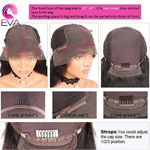 13x6 Lace Front Human Hair Wigs for Black Women Pre plucked Brazilian Virgin Hair 150 density Lace Front Wig Glueless Body Wave Front Lace Wigs with Baby Hair (14 Inch,150 density,13x6 Lace Front Wig) by EVA HAIR (Image #9)
