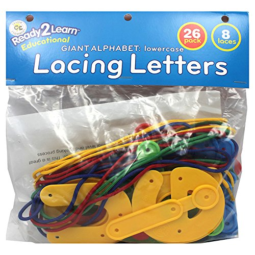 CENTER ENTERPRISES INC. READY2LRN LACING LETTERS LOWERCASE (Set of 6)