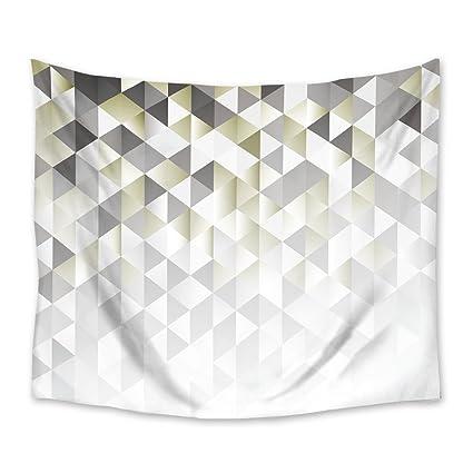Tapiz colgar en la pared geométrico gradiente Digital textura con mosaico de triángulo arte de pared