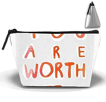 Usted Vale la pena Artículos de tocador de Viaje Bolso para ...