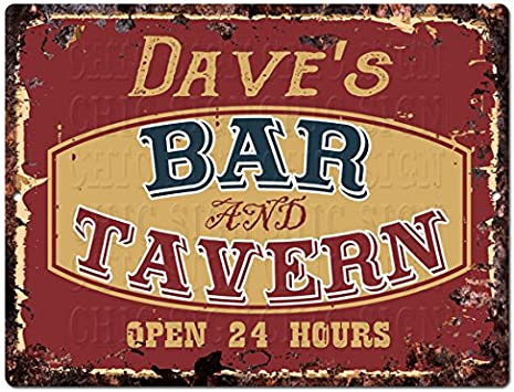 Bar Pub Mancave She Shed Gift Tiki Bar Vintage Look Retro Style Metal Sign