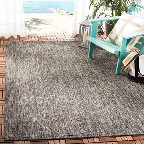 Safavieh Courtyard Collection CY8522-36622 Black Indoor Outdoor Area Rug 5 3 x 7 7