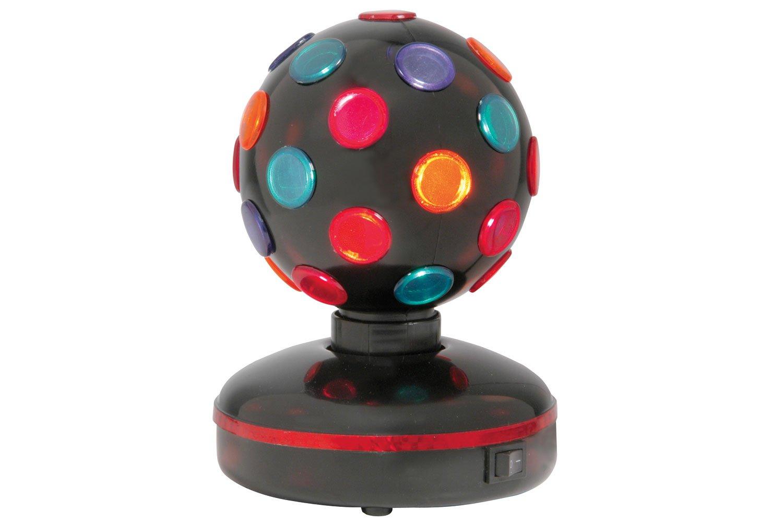 skytronic 153.144UK Rotating Disco Ball 4- Colours Free Standing