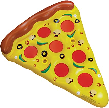Amazon Com Ini Deluxe Large Size Pizza Pool Float 6 Feet Long Toys Games