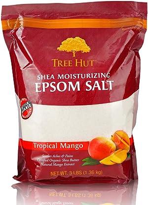 Tree Hut Shea Moisturizing Epsom Salt Tropical Mango, 3Ibs, Ultra Hydrating Epsom for Nourishing Essential Body Care