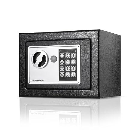 iKayaa Caja Fuerte de Acero Completo Caja Digital Caja de Seguridad Electrónica para Joyas Pistola Color