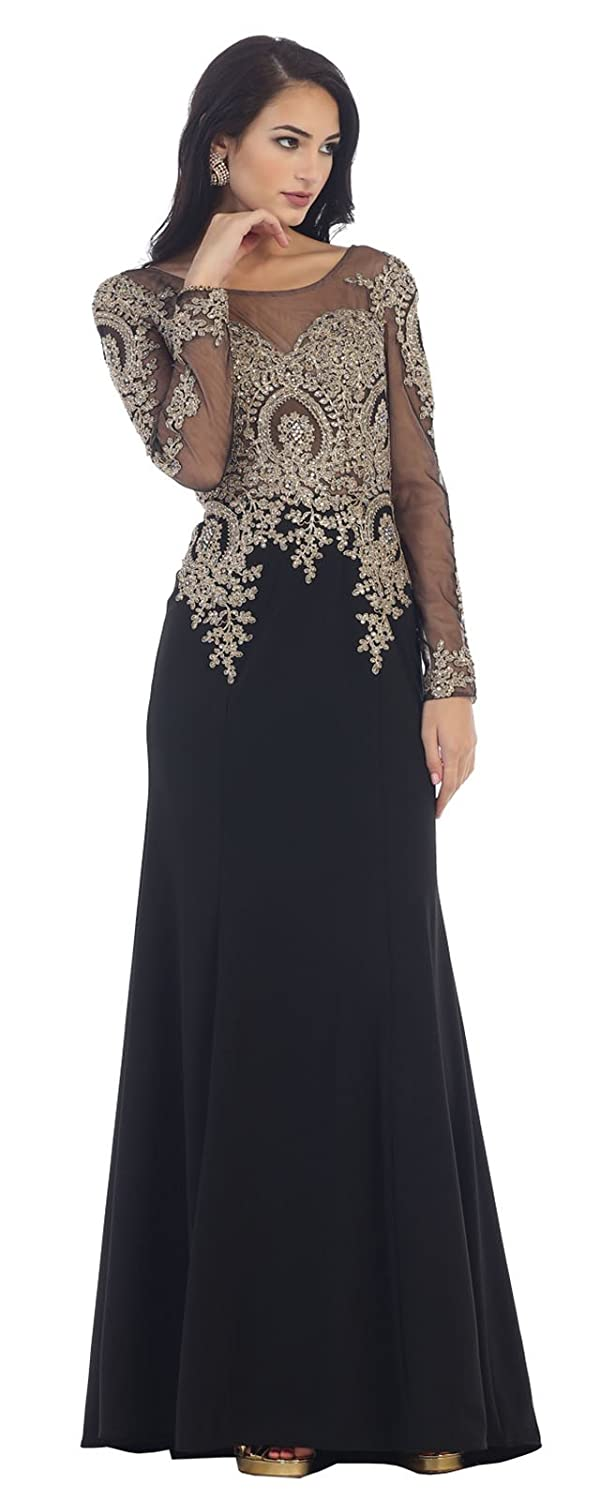 Royal Queen RQ7479 Long Sleeve Evening Gown for All Ages at Amazon Womens Clothing store: