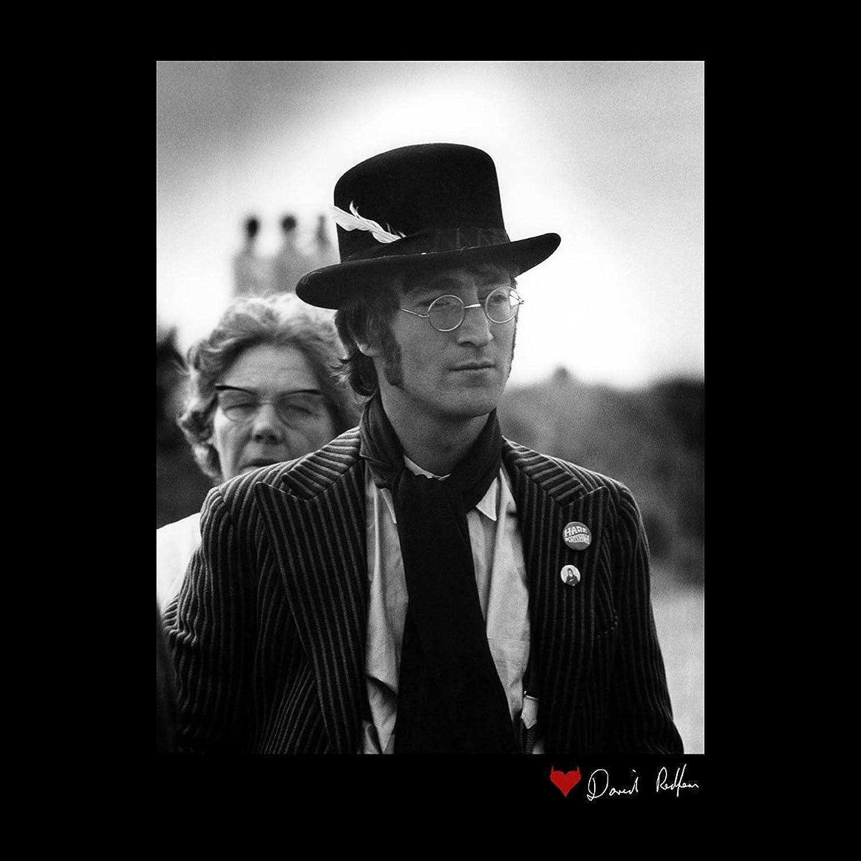 John Lennon With Feather Hat B/&W Women/'s Vest