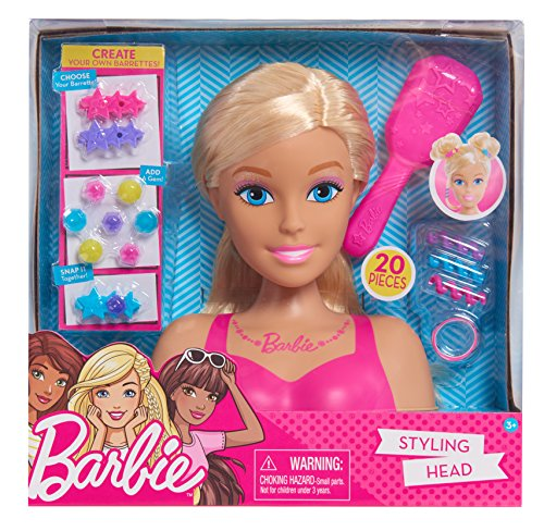 Barbie Small Styling Head- Blonde, Medium, Pink (Best Makeup To Sell In A Salon)
