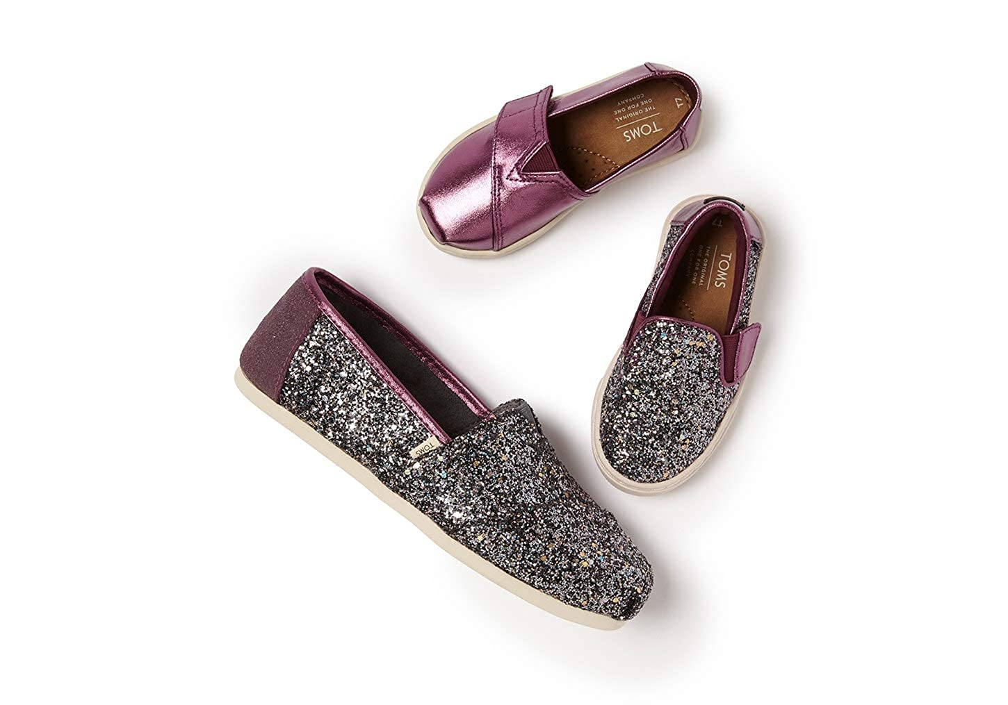 1e91427715cac TOMS Women's Alpargata Pewter Party Glitter (Vegan) 5 B US