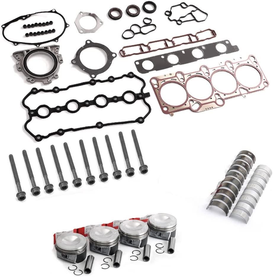 BoCID Engine Pistons Rings Gaskets Bolts Rebuild Kit For