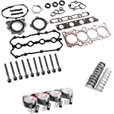 BoCID Engine Pistons Rings Gaskets Bolts Rebuild Kit For VW AUDI A4 2.0 TFSI BWT BPY