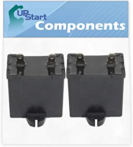 2-Pack W10662129 Refrigerator and Freezer Compressor Run Capacitor Replacement for Amana TZ21RL (P1157604W L) Refrigerator - Compatible with 2169373 WPW10662129 Run Capacitor