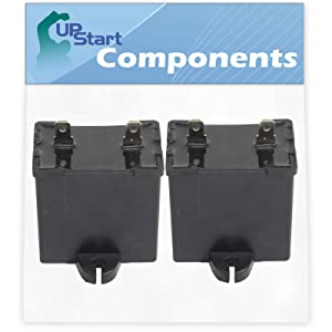 2-Pack W10662129 Refrigerator and Freezer Compressor Run Capacitor Replacement for Amana TZ21RL (P1157601W L) Refrigerator - Compatible with 2169373 WPW10662129 Run Capacitor