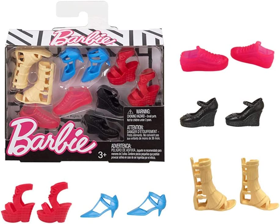 Barbie Fashion Accessory Shoe Packs FCR93  ORIGINAL /& PETITE TALL /& CURVY DOLLS