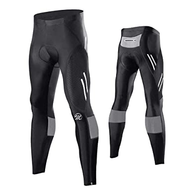 dce9217862 FEIXIANG Men's Cycling Tight Pants 4D Padded Bicycle Riding Compression  Leggings Bike Clothes Cycle Wear Sport