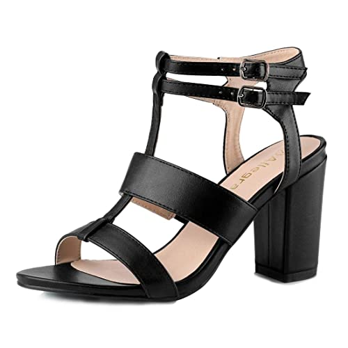 213ac67e9ad Allegra K Women s Chunky Heel Strappy Sandals  Buy Online at Low ...