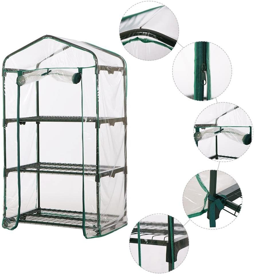Succulent Insulated Home Household Supplies Vegetable And Fruit Greenhouse PVC Cloth Garden Greenhouse With 5 Shelves And Sturdy Cover Makluce Walk-in Greenhouse