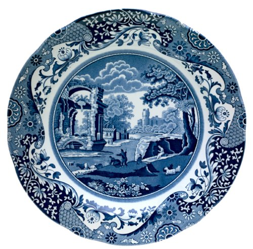 - Spode Blue Italian 10-Inch Earthenware Dinner Plate