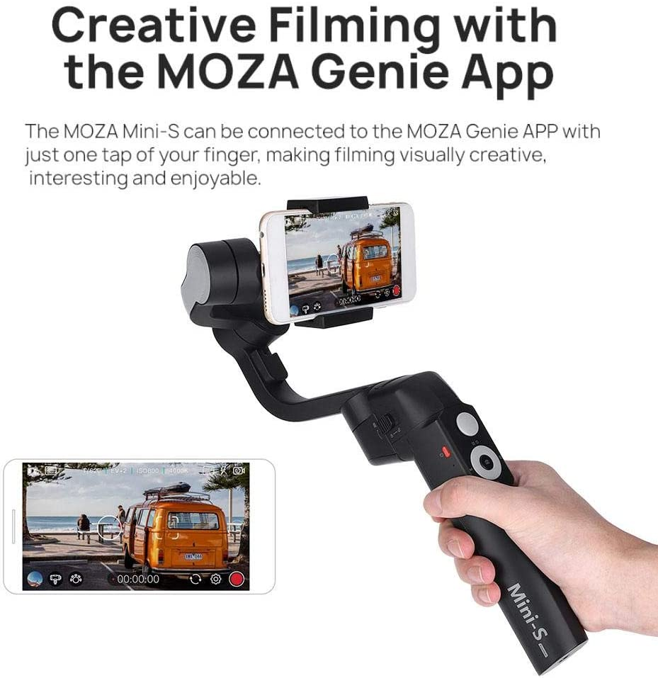 Xiaomi Ciglow Handheld Phone Stabilizer Shockproof Foldable Smartphone Handheld Gimbal Stabilizer with Tripod Compatible with iPhone Samsung Huawei