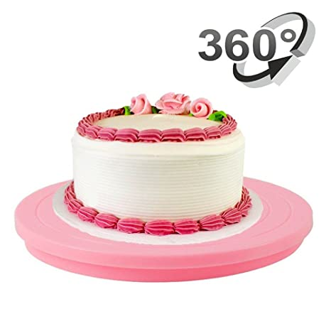 Cookie Decorating Turn Table - 5.5 Inch Mini Spinning Cake Decorating Stand  360 Degree Revolving Suger Cookie Swivel Stand