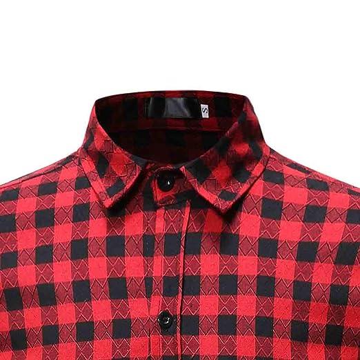 78048c4f Longra Men's Lattice Painting Long Sleeve Large Size Casual Top Blouse  Shirts at Amazon Men's Clothing store: