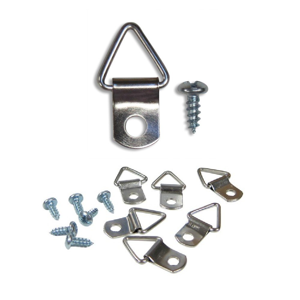 Frame Triangle Ring Hanger - 1000 Pack - Small D-Ring Picture Hanger with Screws - Picture Hang Solutions