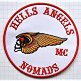 Hells Angels Nomads MC Embroidered Cloth Iron On Patch