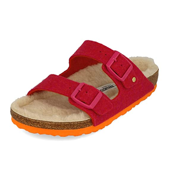 4866cd1583477b Birkenstock Arizona Wool Felt in Doubleface Fuchsia (Art 1012433) - 36   Amazon.co.uk  Clothing