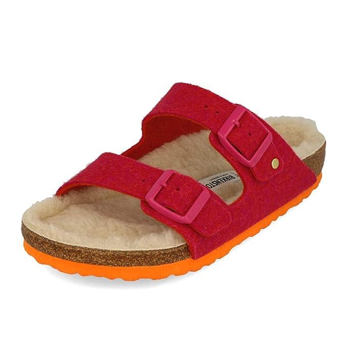 2ab163c83d10 Birkenstock Arizona Doubleface Khaki Wool Two Strap Sandal  Amazon.co.uk   Clothing
