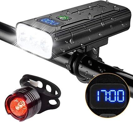 USB charging bicycle lamp 1200 lumen LED head lamp waterproof bicycle lamp set