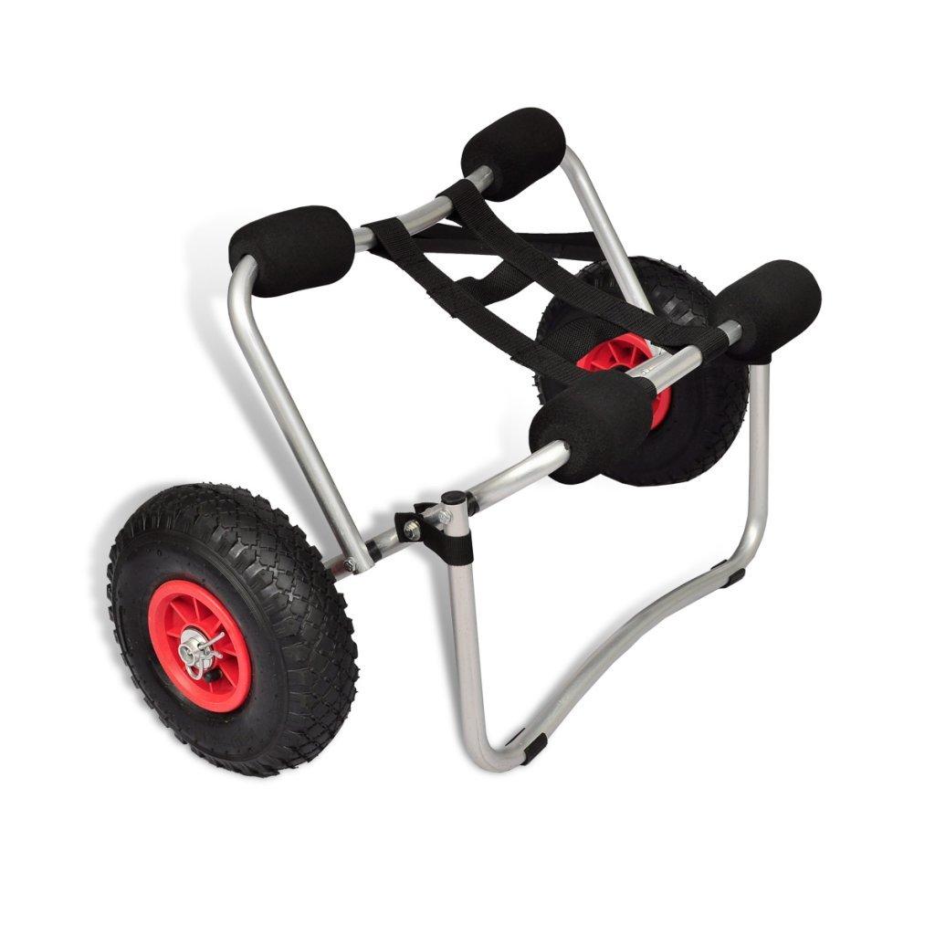 Daonanba Kayak Cart Aluminum Kayak Canoe Vehicle Tailer With Two Wheel