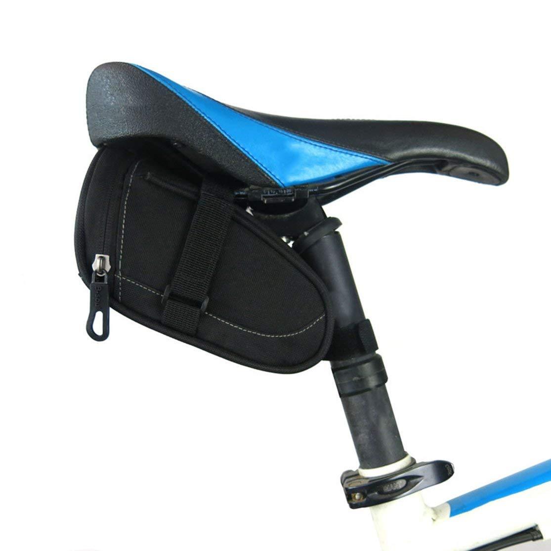 LouiseEvel215 Peque/ño tama/ño de Nylon Impermeable Bicicleta sill/ín Bolsa Mountain Road Bike Tail Bag Ciclismo Asiento Bolsa para Accesorios de Bicicleta