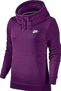 3ef778cfe182 Amazon.com  Nike Sportswear Rally Funnel Neck Fleece Hoodie (Womens ...