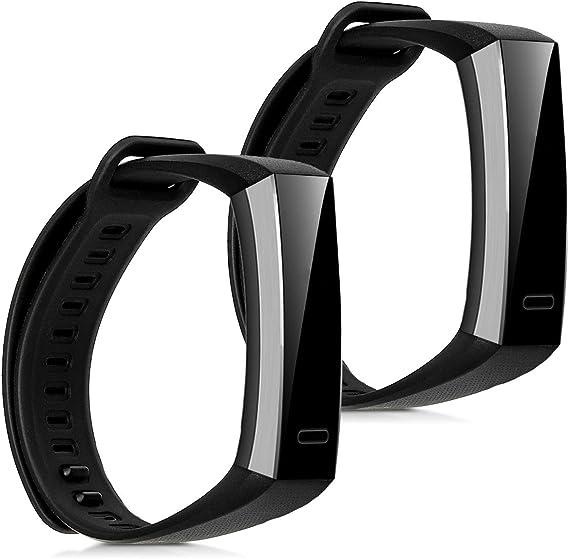 Image ofkwmobile 2X Pulsera Compatible con Huawei Band 2 / Band 2 Pro - Brazalete de Silicona Negro sin Fitness Tracker