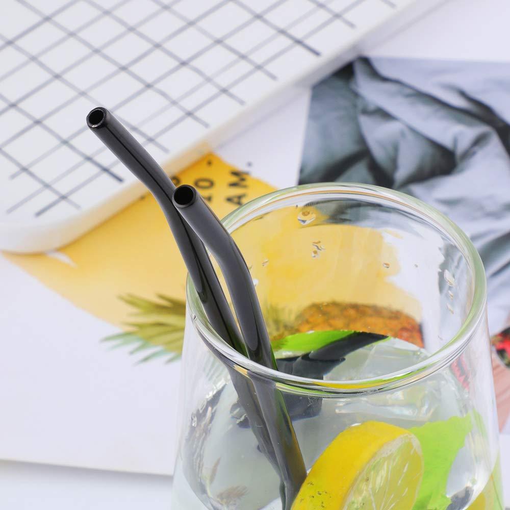 Trinkhalml/öffel Blau Cocktail Latte Macchiato L/öffel D/ünn und Langstielige 21,5cm f/ür Longdrink Eiskaffee Do Buy 8 St/ück Wiederverwendbare Edelstahl Strohhalme L/öffel mit 2 Reinigungsb/ürsten