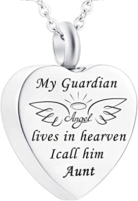 WK Cremation Urn Ashes Necklace Son Forever in My Heart Birthstone Stainless Steel Keepsake Waterproof Memorial Pendant