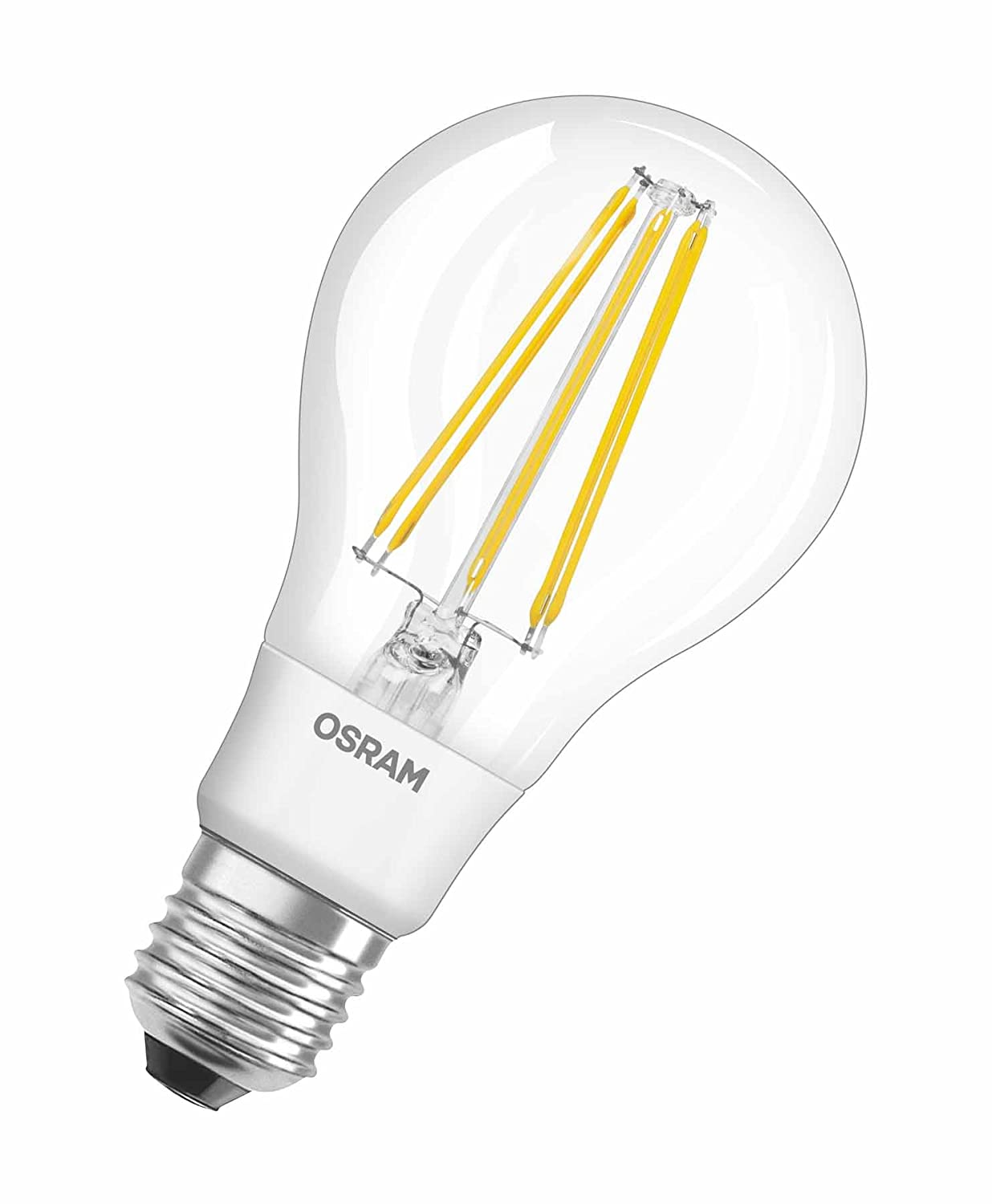 Osram led retrofit classic aled lamp classic bulb shape e27 osram led retrofit classic aled lamp classic bulb shape e27 220 to 240 v 2700 k clear warm white 12 w 95 w replacement pack of 1 amazon parisarafo Choice Image